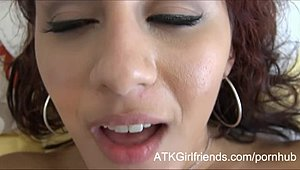 Cumming on Liv Aguilera's face in POV following passionately shag following a girfriend
