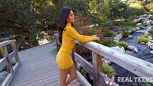Real minors - newcomer latina lady teenybopper Sophia Leone POV shag